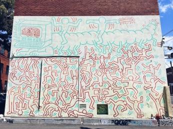 Keith Haring Mural Street Art